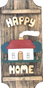 Cottage on a 3 board sign.