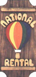 Hot Air Balloon on a 3 board sign.